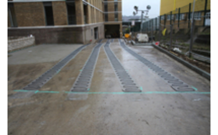 A New Heated Driveway For A Modern Development In North London